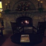 Love the lobby fireplace.