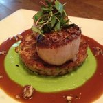 Scallop Pea & Organic Olive Oil Puree