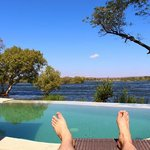 Pool overlooking Zambezi River