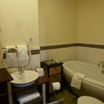 The Halcyonia Suite - Bathroom View- sleeps 6,full bath and kitchenette