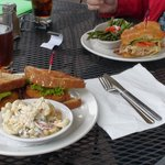 """Fried Green Tomato Sandwich and """"Mel's"""" Croissant"""