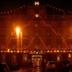 Beautiful frontage on the night of our December wedding