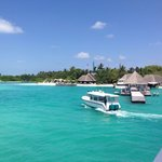 Our first view of Kuda Huraa on arrival - it is every bit as stunning as we imagined - and more!