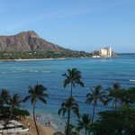 Diamond Head view from the Halekulani