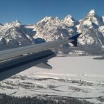 My view landing in Jackson, WY