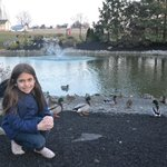 Grace, visiting the ducks...