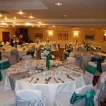 Function room for reception dinner and evening dance