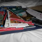 Guest information folder with a plethora of tourism leaflets