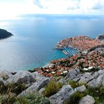 View of Dubrovnik from the hill above.  Cable car takes you, or you can go by car or hiking trai