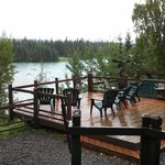 Deck overlooking the Kenai and Moose Rivers
