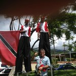 nearby Heritage Festival with Moko Jumbies of Trinidad