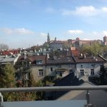 The view from my balcony of Wawel Castle