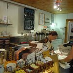 Service counter at Louisa's Coffee House