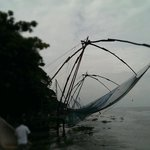 Chinese fishing nets at Kochi harbour