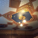 All of the ceilings have been papered in 1890s designs. Gorgeous!