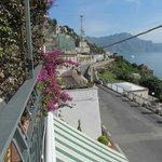 View towards Amalfi from the balcony of a double room with a view