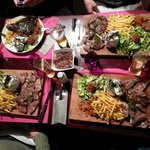4 steak platters for 4 hungry Brits