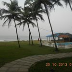 Scenic view of Swimming pool & the Ashvem Beach