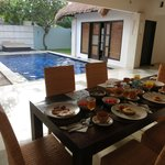 Breakfast cooked & served in our own villa