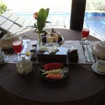 Simple but tasty breakfast served every morning in your villa