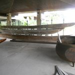 Tahitian Museum: outdoor exhibit on canoes