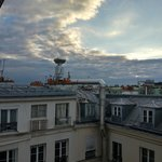 Rooftop view of Paris from our room