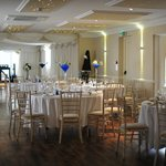 The function room decorated for our reception