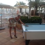 pool table next to swimming pool (keep the noise down!!)