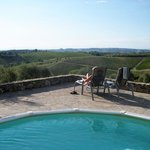 The pool area at Podere Patrignone