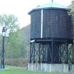 old train water tower on Greenbriar trail