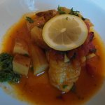 Delicious seafood with vegetables