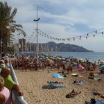 benidorm busy ready for fiesta.