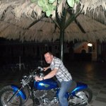 Myself on Breeze Bar's motorbike, Easy Rider!
