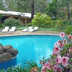 Pool area of Quality Inn Margaret River