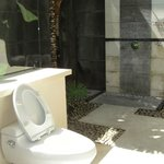 The in villa open air bathroom