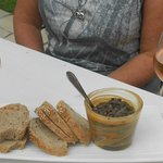 breads and olive tapenade