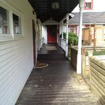 Walkway to carriage house