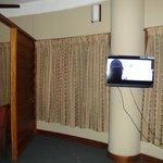 Room had brand new Toshibha LCD TV!