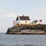 Lighthouse Saltholmen, right outside the town of Lillesand