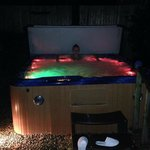 The hot tub at night