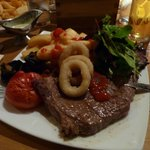 Steak& chips