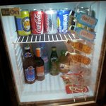 bar fridge - chargable .. I never use. haha!!