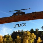 Entering the lodge