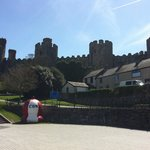 View of Conwy Castle from the dock