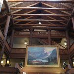ceiling of the lodge