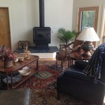 Great Room with Wood Stove. Ready for Cool Weather.
