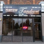 Delicious Indian food just outside the North Harrow tube entrance.