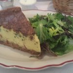 Quiche Lorraine with side of fresh greens