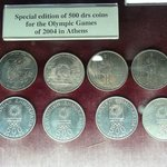 Coins from Athens Olympics