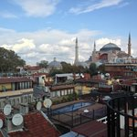 Aya Sofia from the roof garden